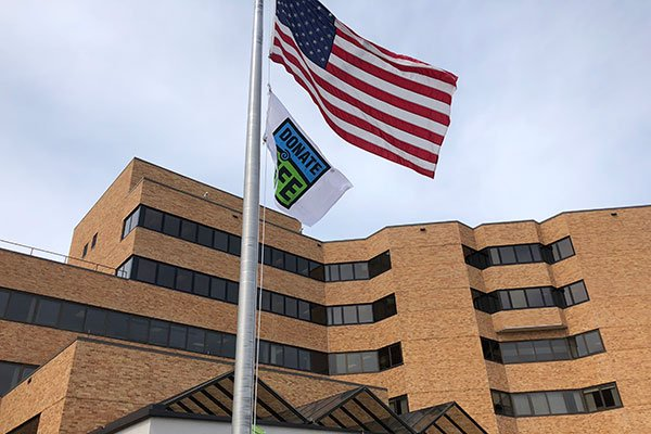 Donate Life flag at Essentia Health St. Josephs Medical Center