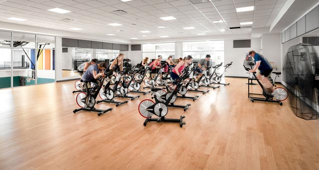 Hermantown Wellness Center cycling class