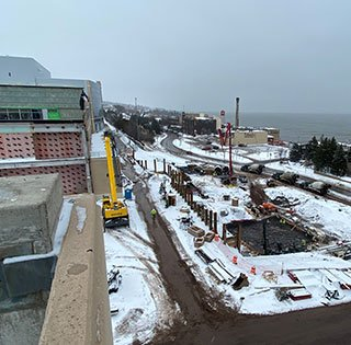 Vision Northland construction site in downtown Duluth Minnesota.